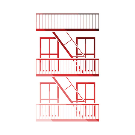 Emergency fire ladder icon. Flat color design. Vector illustration. Vecteurs