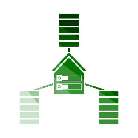 Datacenter Icon. Flat Color Ladder Design. Vector Illustration. Ilustrace
