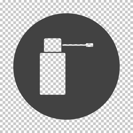 Inhalator icon. Subtract stencil design on tranparency grid. Vector illustration. Vektoros illusztráció