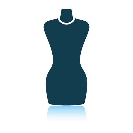 Tailor mannequin icon. Illustration
