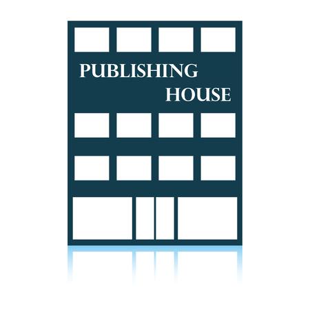 Publishing house icon. Shadow reflection design. Vector illustration.