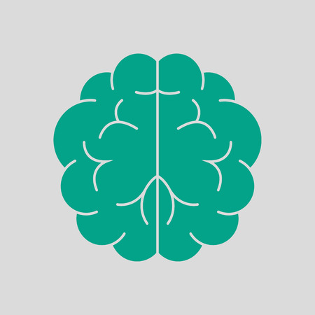 Brainstorm Icon. Green on Gray Background. Vector Illustration.  イラスト・ベクター素材