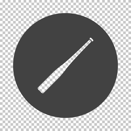 Baseball bat icon. Subtract stencil design on tranparency grid. Vector illustration. 스톡 콘텐츠 - 123434248