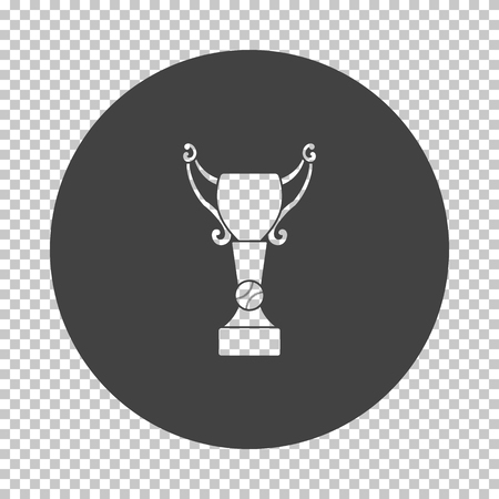 Baseball cup icon. Subtract stencil design on tranparency grid. Vector illustration. Stock Illustratie