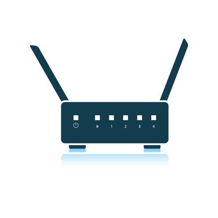 Wi-Fi router icon. Shadow reflection design. Vector illustration. Illustration