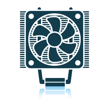 CPU Fan icon. Shadow reflection design. Vector illustration.