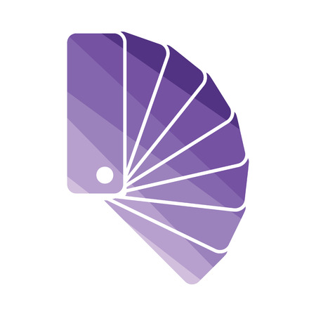 Color samples icon. Flat color design. Vector illustration. Illustration