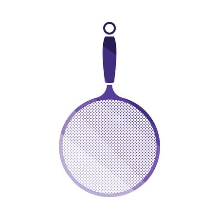 Kitchen colander icon. Flat color design. Vector illustration.