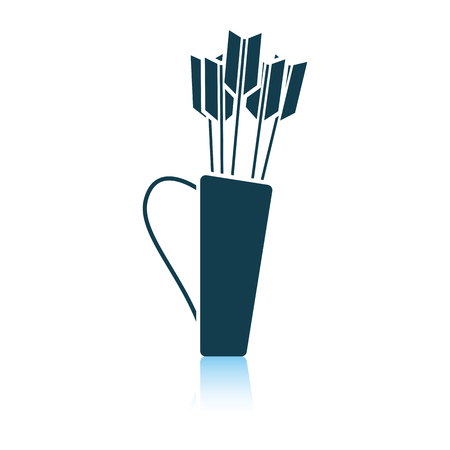 Quiver with arrows icon. Shadow reflection design. Vector illustration.