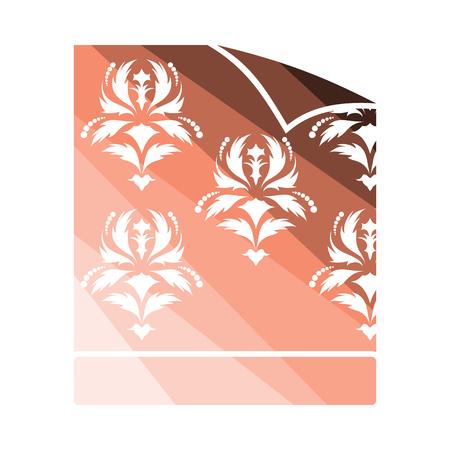 Wallpaper icon. Flat color design. Vector illustration.