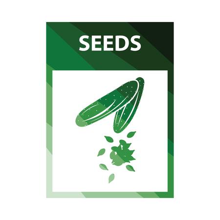 Seed pack icon. Flat color design. Vector illustration. Vektorgrafik
