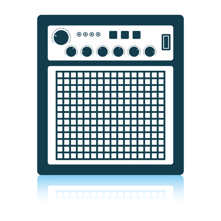 Audio monitor icon. Shadow reflection design. Vector illustration. Illustration