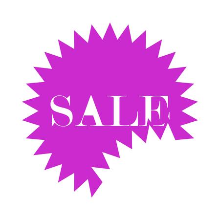 Sale Tag Icon. Flat Color Design. Vector Illustration. Illustration