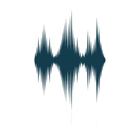 Music equalizer icon. Shadow reflection design. Vector illustration. Ilustração