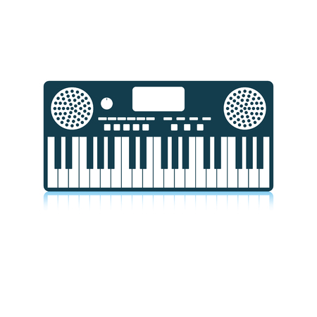 Music synthesizer icon. Shadow reflection design. Vector illustration. Ilustração