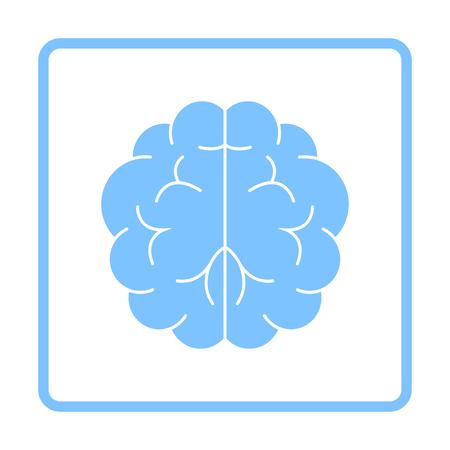 Brainstorm Icon. Blue Frame Design. Vector Illustration.