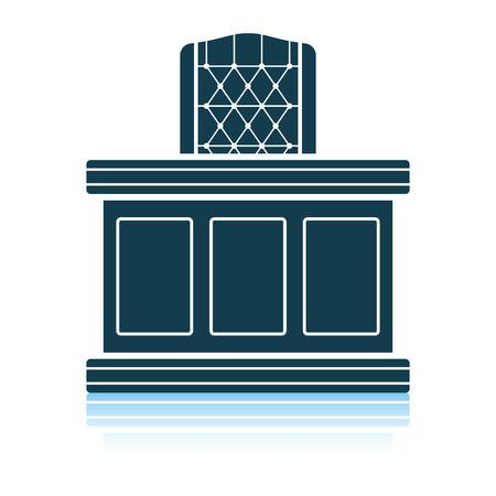 Judge table icon. Shadow reflection design. Vector illustration.