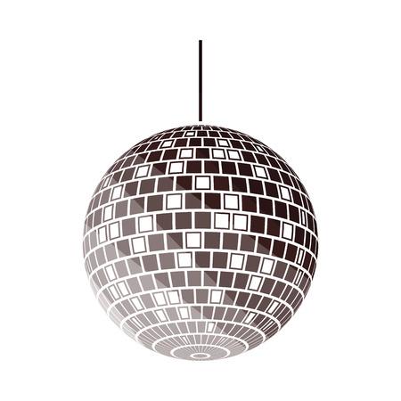 Party disco sphere icon. Flat color design. Vector illustration.