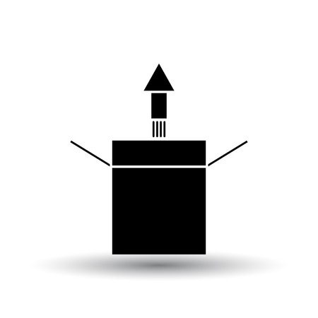 Product Release Icon. Black on White Background With Shadow. Vector Illustration.