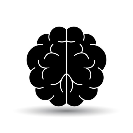 Brainstorm Icon. Black on White Background With Shadow. Vector Illustration.