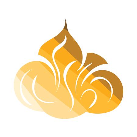 Shaving foam icon. Flat color design. Vector illustration.