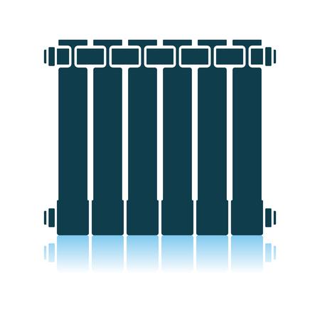 Icon Of Radiator. Shadow Reflection Design. Vector Illustration. Ilustração