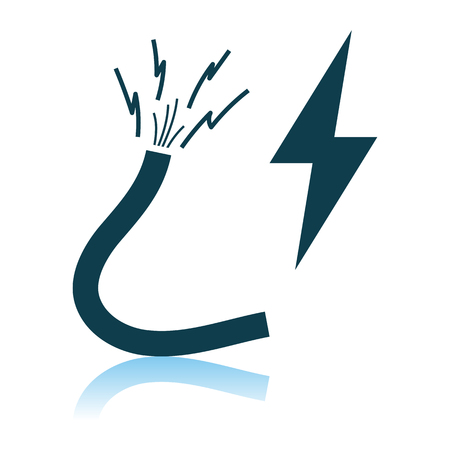 Icon Of Wire. Shadow Reflection Design. Vector Illustration.