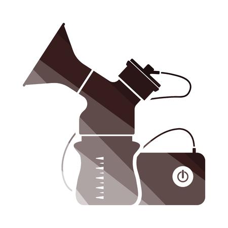 Electric Breast Pump Icon. Flat Color Ladder Design. Vector Illustration.