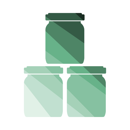 Baby Glass Jars Icon. Flat Color Ladder Design. Vector Illustration.