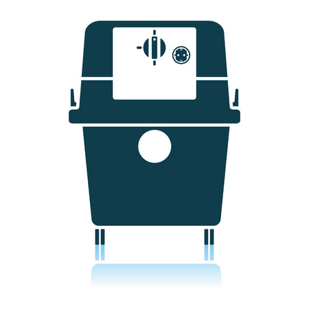 Vacuum Cleaner Icon. Shadow Reflection Design. Vector Illustration.