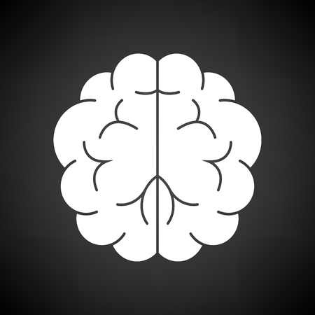 Brainstorm Icon. White on Black Background. Vector Illustration.  イラスト・ベクター素材