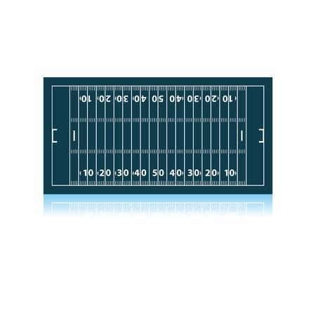 American Football Field Mark Icon. Shadow Reflection Design. Vector Illustration.