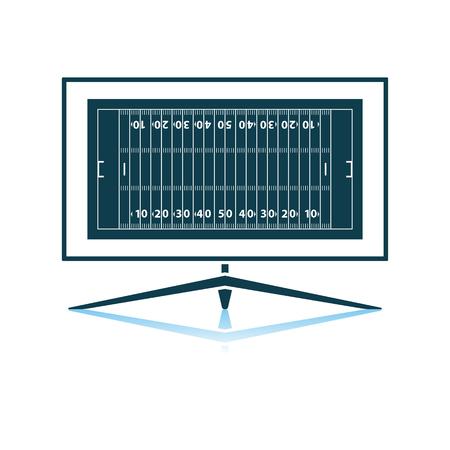 American Football Tv Icon. Shadow Reflection Design. Vector Illustration. Illustration
