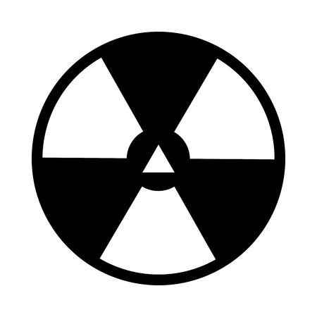 Radiation Icon. Black Stencil Design. Vector Illustration. 矢量图像