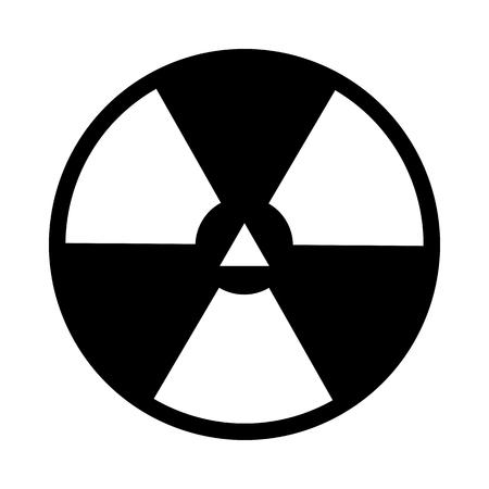 Radiation Icon. Black Stencil Design. Vector Illustration. Illustration