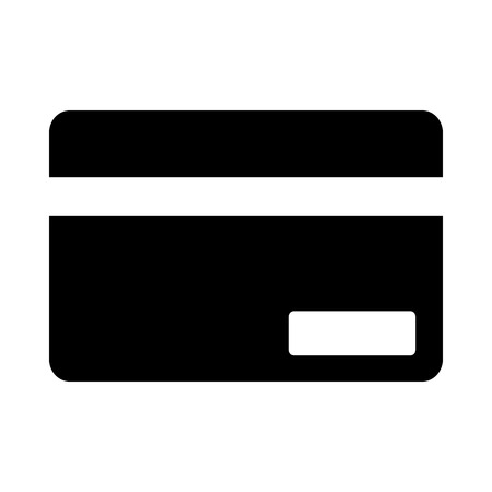 Credit Card Icon. Black Stencil Design. Vector Illustration.