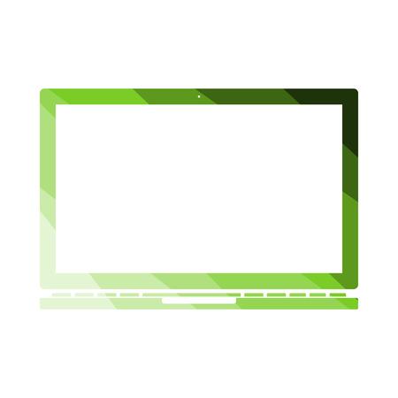Laptop Icon. Flat Color Ladder Design. Vector Illustration. Ilustrace