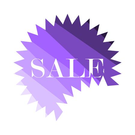 Sale Tag Icon. Flat Color Ladder Design. Vector Illustration. Illustration