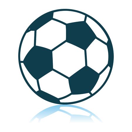 Soccer Ball Icon. Shadow Reflection Design. Vector Illustration.