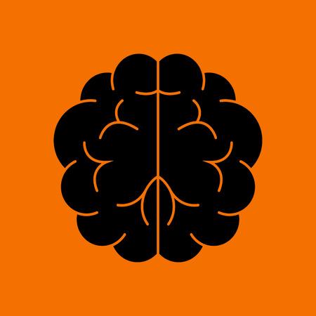 Brainstorm Icon. Black on Orange Background. Vector Illustration.  イラスト・ベクター素材