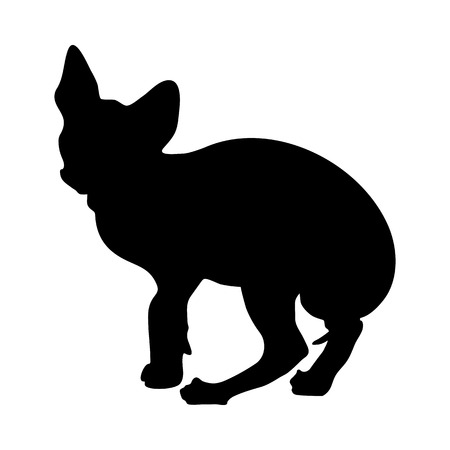 Cat Silhouette. Smooth and Clear. Vector Illustration.