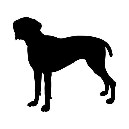 German Pointer Dog Silhouette. Smooth Vector Illustration.  イラスト・ベクター素材