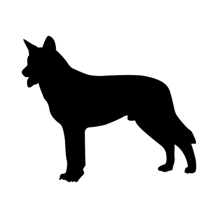 Wolfhdog Silhouette. Smooth Vector Illustration. Illusztráció