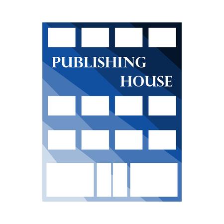 Publishing House Icon. Flat Color Ladder Design. Vector Illustration. Ilustrace
