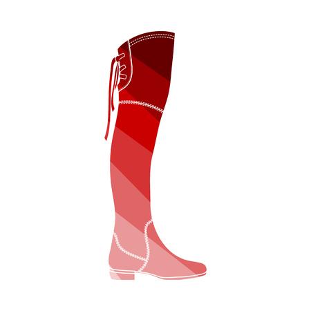 Hessian Boots Icon. Flat Color Ladder Design. Vector Illustration. Illustration