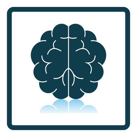 Brainstorm Icon. Square Shadow Reflection Design. Vector Illustration.