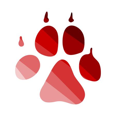 Dog Trail Icon. Flat Color Ladder Design. Vector Illustration.