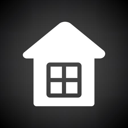Home Icon. White on Black Background. Vector Illustration. Ilustracja