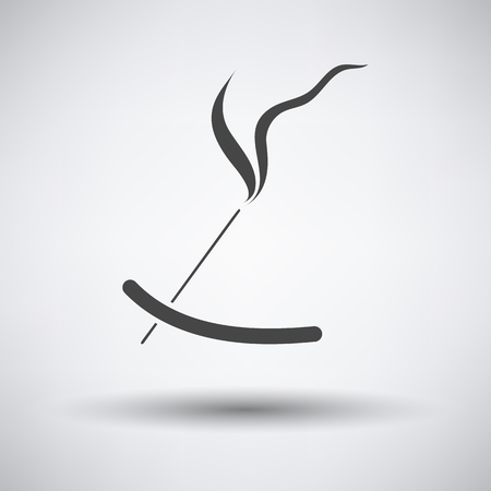 Incense sticks icon on gray background with round shadow. Vector illustration. Illustration