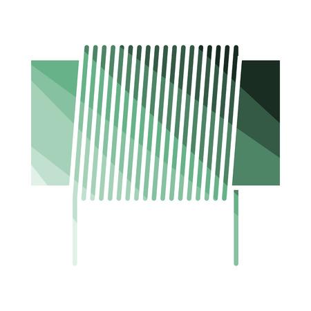 Inductor Coil Icon. Flat Color Ladder Design. Vector Illustration. Illustration
